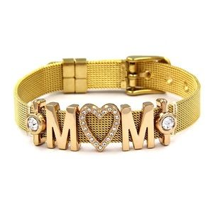 Jewelry - MOM WITH HEART RHINESTONE - GOLD